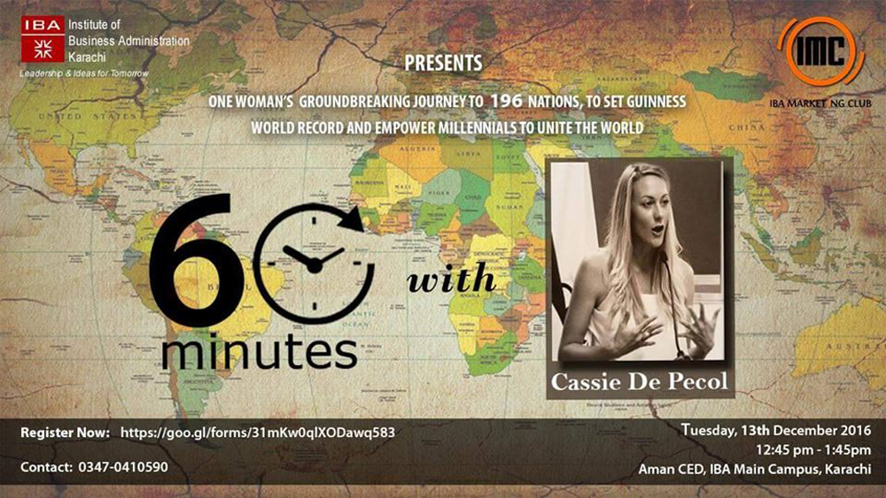 60 Minutes with Cassie D. Pecol