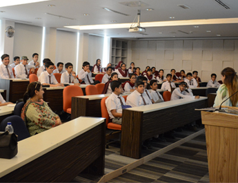Oct 5, 2017: Business Studies students from The City School PAF Chapter visited IBA AMAN