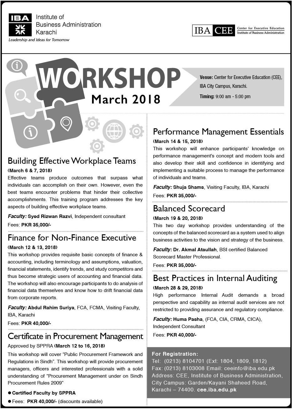 CEE Workshop March 2018