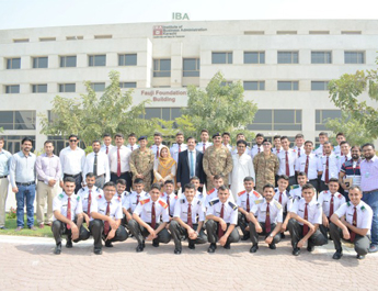 Oct 13, 2017: Cadet College Spinkai Visits IBA Karachi