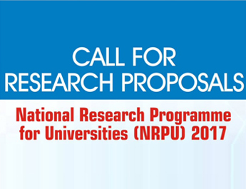 National Research Program for Universities (NRPU)