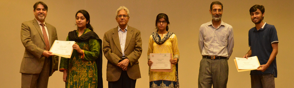 A certificate distribution ceremony, conducted by the TCF Ambassadors at IBA