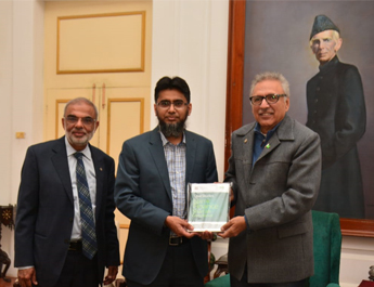 Director IBA-CEIF presents 'IBA-CEIF Islamic Finance Casebook' to the President of Pakistan