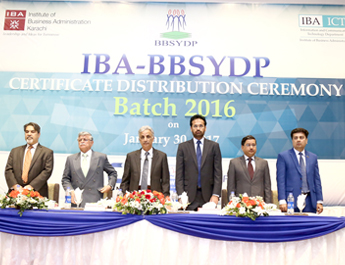 Jan 30, 2017: IBA - BBSYDP held it's awards distribution ceremony at S Auditorium in IBA City Campus