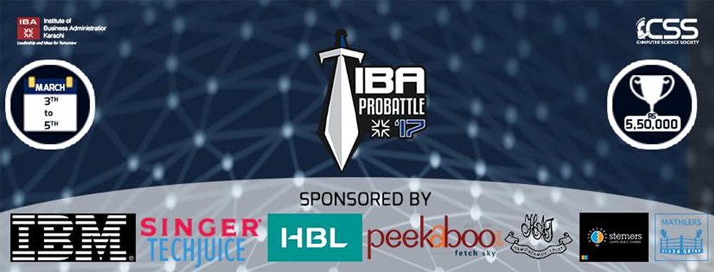IBA's Computer Science Society (CSS) held its 5th edition of ProBattle  at IBA Main Campus