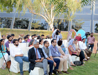 Inauguration Ceremony of Tabinda Chinoy's Reel Artwork at IBA Karachi