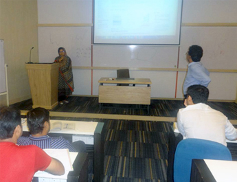Aug 1, 2015: Library Session for EMBA Batch Summer 2015