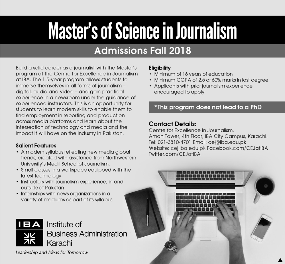 MS of Science in Journalism - Admissions Fall 2018