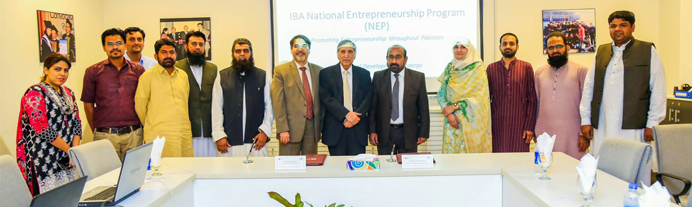 MoU between IBA Aman-CED and MUISTD for IBA National Entrepreneurship Program