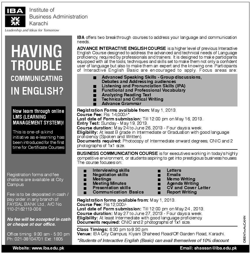 Business English Department