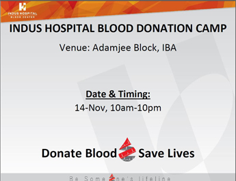 Blood Donation Drive by Indus Hospital at IBA Main Campus