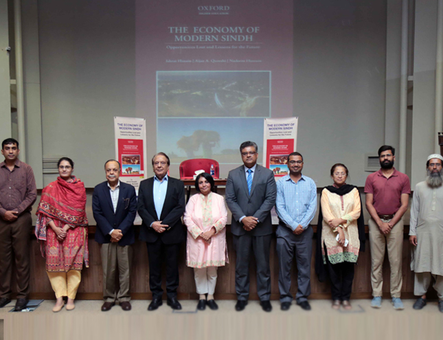 A book talk on The Economy of Modern Sindh