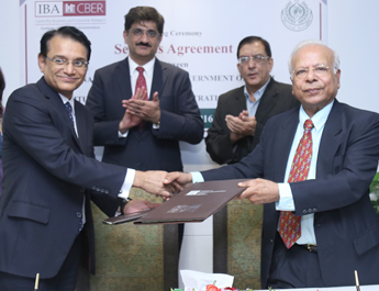 Feb 15, 2016: Government of Sindh and IBA sign Services Agreement at Inauguration of the Center for Business and Economic Research
