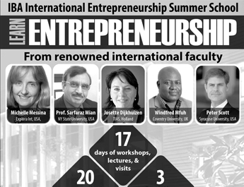 IBA International  Entrepreneurship Summer School from Renowned International Faculty
