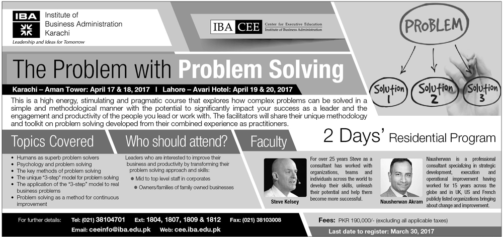 The Problem with Problem Solving  - 2 Days' Residential Program
