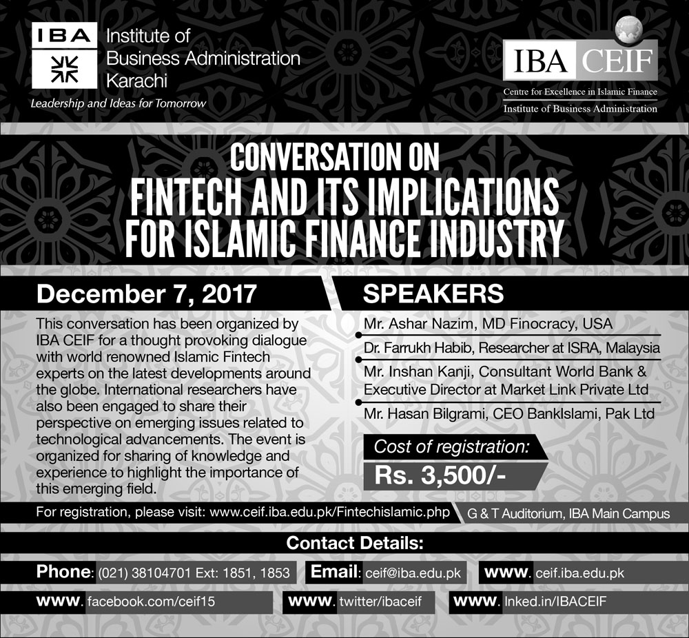 Conversation on Fintech & Its Implications for Islamic Finance Industry