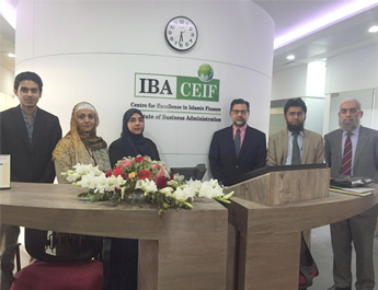 February 25, 2016: IBA CEIF hosted a Meeting; Dr. Zamir Iqbal from World Bank with representatives from Takaful Companies
