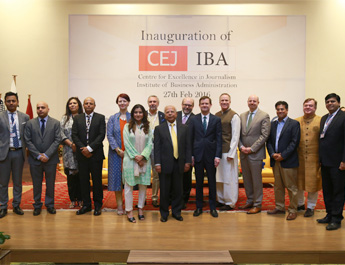 American Ambassador, IBA Director Inaugurate Center for Excellence in Journalism