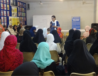 Mar 25, 2019: SSLA-IBA faculty Dr. Gulnaz Anjum conducted a Community Well-being Workshop