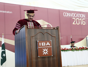 Dec 3, 2016: :IBA Karachi commemorated its annual convocation on the vast grounds of IBA-UBL Sports Complex at IBA, Main Campus