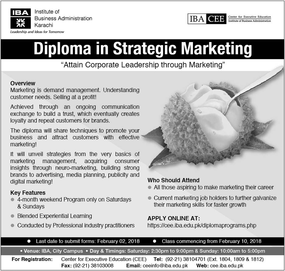 Diploma in Strategic Marketing