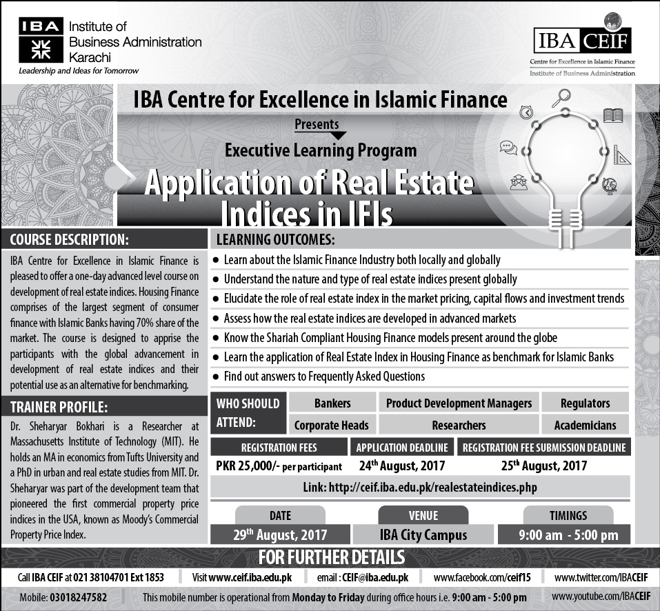Application of Real Estate Indices in IFIs