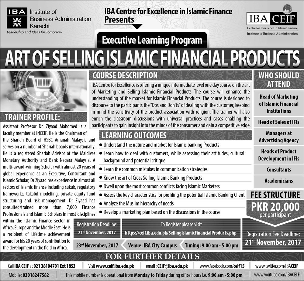 Art of Selling Islamic Financial Products