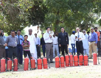 Oct 10, 2017:  Fire Safety Drill at IBA Staff Town