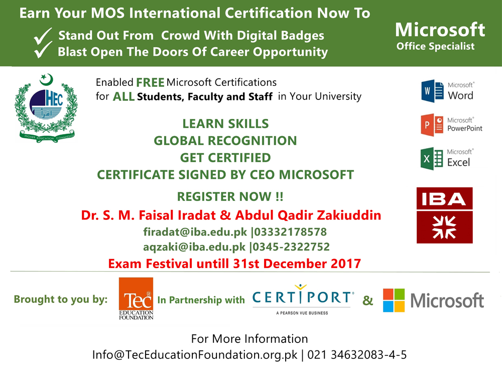 HEC MOS Certification