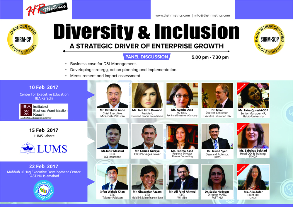 SHRM Forum Pakistan is coming to IBA-Karachi