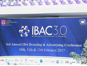 Feb 10-12, 2017: IBA Branding & Advertising Conference (IBAC) hit a hat-trick this year with its third consecutive success!