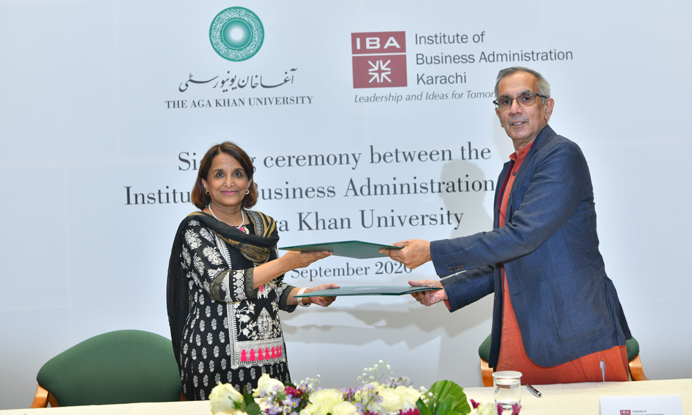 IBA Karachi and Aga Khan University sign MoU for collaborative research