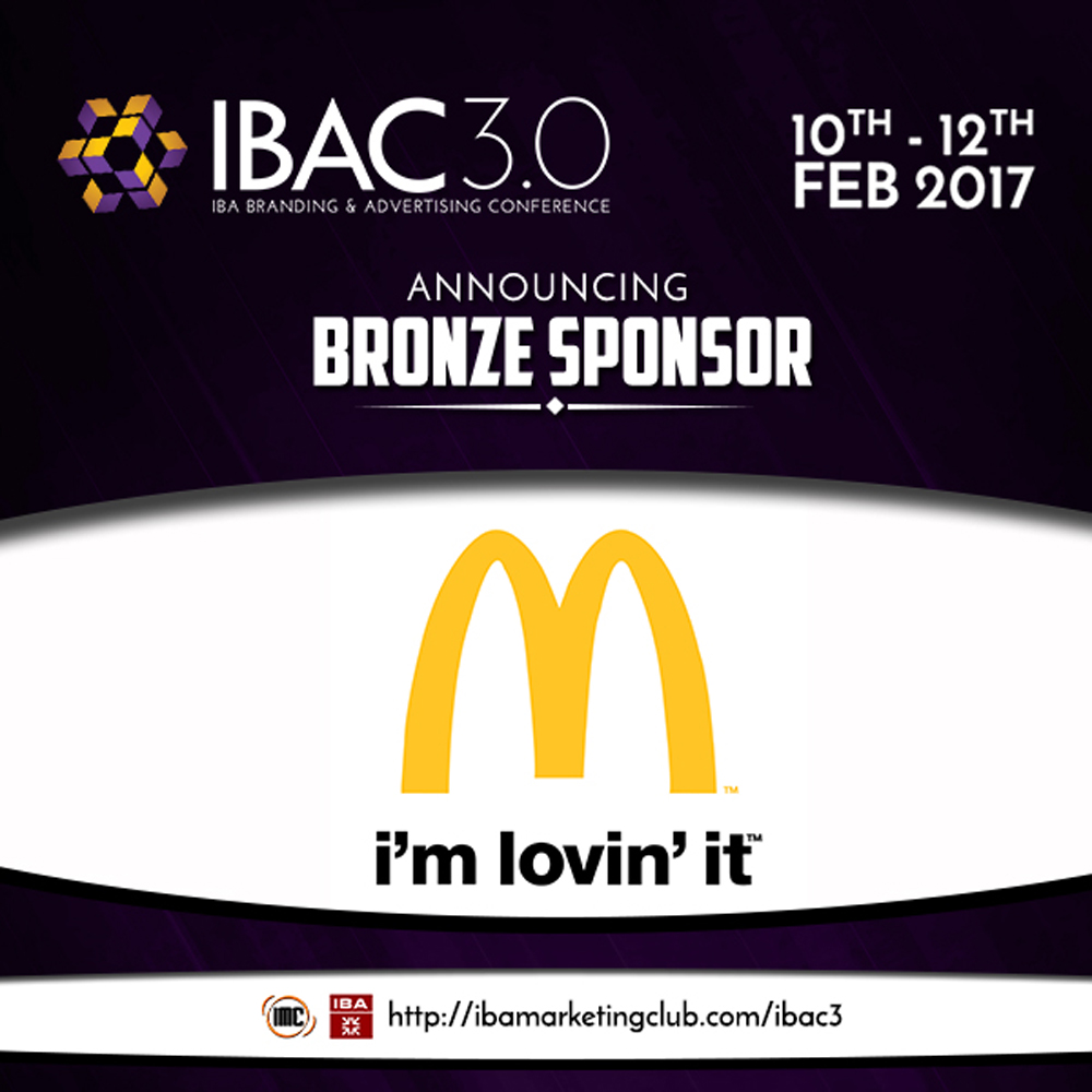 IBA Marketing Club Bronze Sponsor for IBAC 3.0