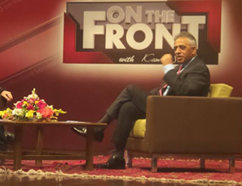 April 12, 2017: IBA Karachi hosted a television interview of the newly appointed Governor of Sindh, Mr. Muhammad Zubair at G&T auditorium, Main Campusb