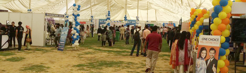 IBA Placement Society held the annual Career Fair 2017 on the lush green Football Ground, at the IBA Main Campus