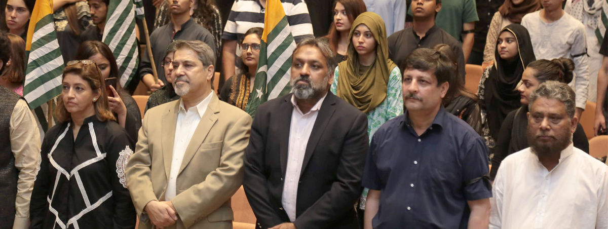 Kashmir Hour observed at the IBA, Karachi