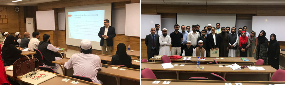 Dr. Farrukh Delivers a Lecture to MS Islamic Banking and Finance Students