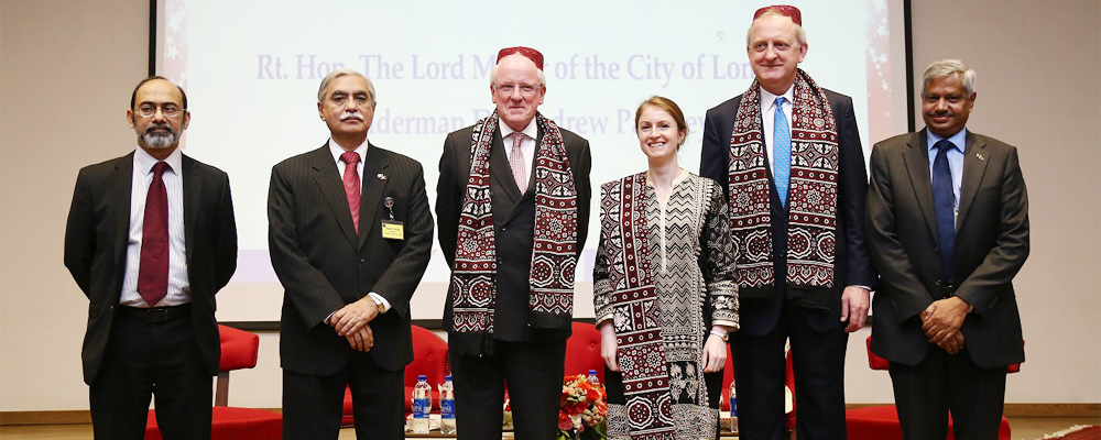 The Rt. Honorable Lord Mayor of the City of London Visits IBA Karachi