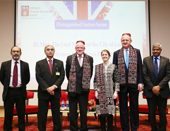 Jan 26, 2017: The Rt. Honorable Lord Mayor of the City of London visited IBA Karachi