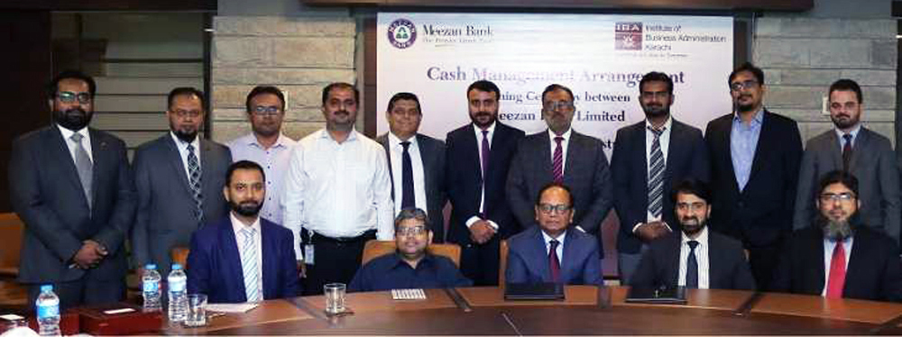 Meezan Bank and IBA sign Agreement