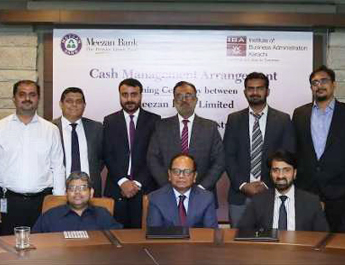 Feb 22, 2018: Meezan Bank and IBA sign Agreement