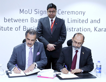 April 13, 2017 - Strategic Partnership MoU signed between Bank Alfalah Limited and Institute of Business Administration, Karachi
