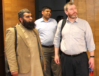 Dec 18, 2015: Mr. James Thompson & Dr. Sajjad Ahmad from USA visited IBA Aman-CED