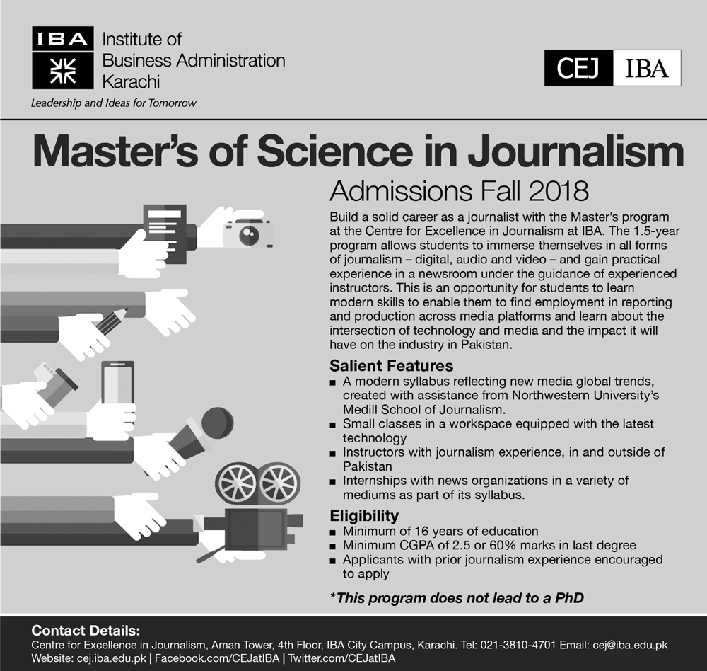 Master's of Science in Journalism Admissions Fall 2018