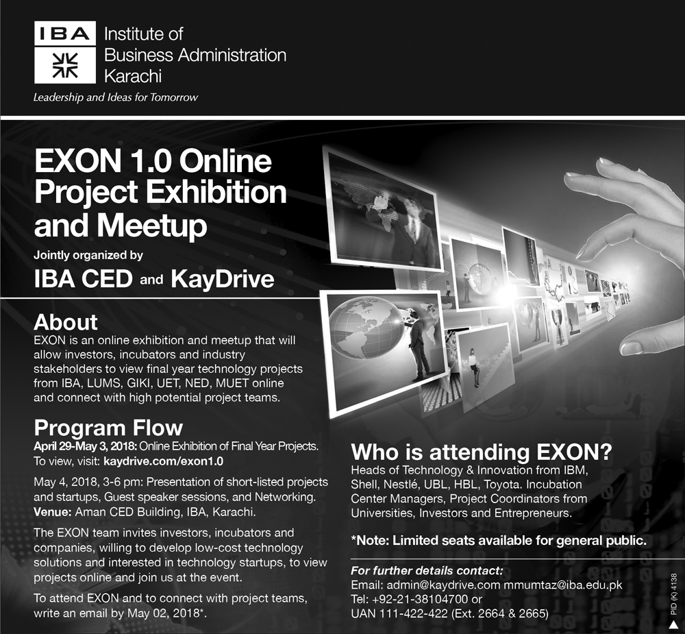 IBA CED & KayDrive: EXON 1.0 Online Project Exhibition and Meetup