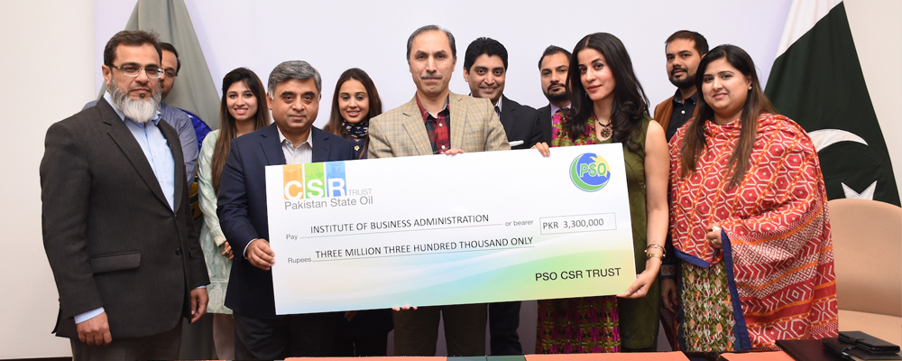 PSO Grants Scholarships to the IBA Students