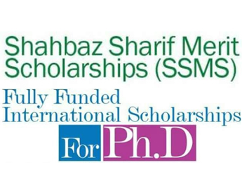 Shahbaz Sharif Merit Scholarship (SSMS) for PhD
