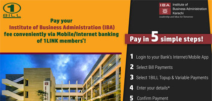 Submit IBA fee through the ease of digital channels via 1BILL