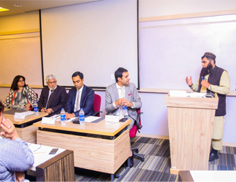 Apr 28, 2017: IBA AMAN-CED in collaboration with US Consulate General Karachi held a talk session on IPR & Globalization