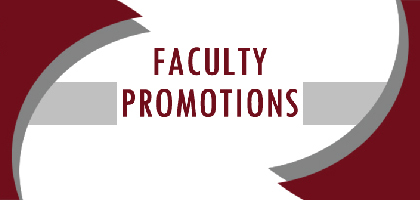 Faculty Promotions